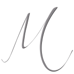 M Monogram Silver